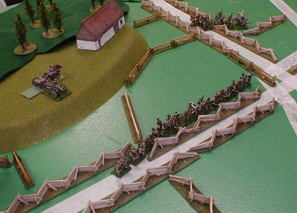 The Rebs prepare for the Union assault..